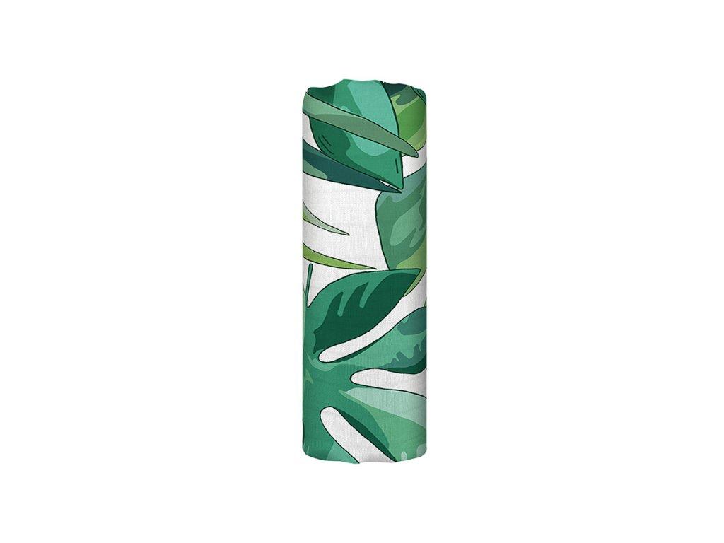 Bambusová mušelínová plena - Roaming Mangrove (120x120 cm)