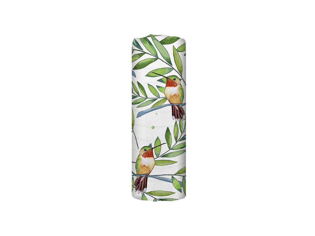 Mušelínová plena z biobavlny - Airy Grace (120x120 cm)