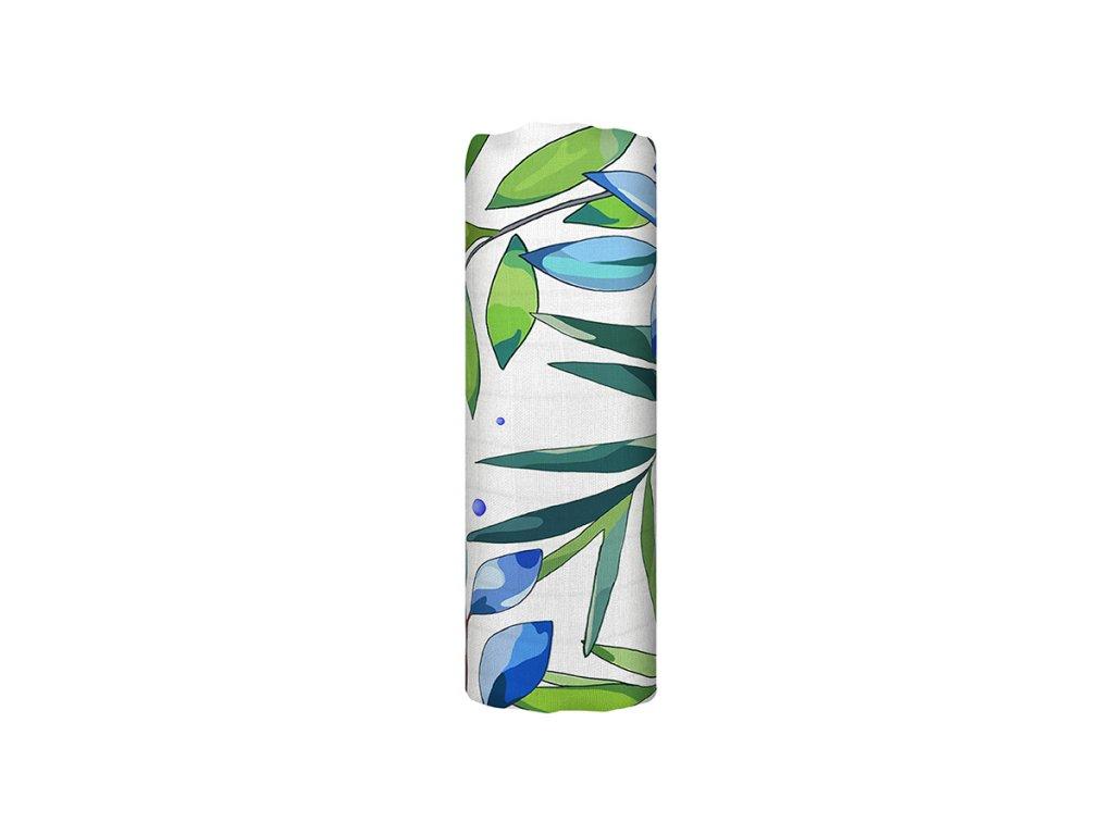 Mušelínová plena z biobavlny - Dancing Shrub (120x120 cm)