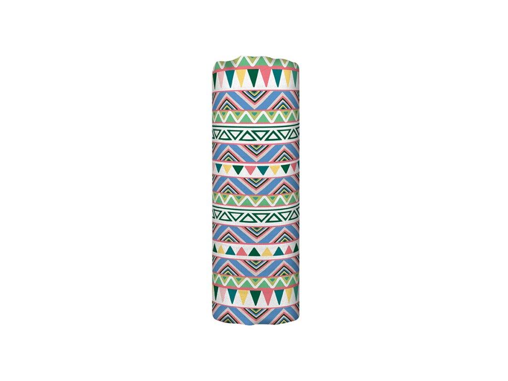 Mušelínová plena z biobavlny - Ethnic Festive (120x120 cm)