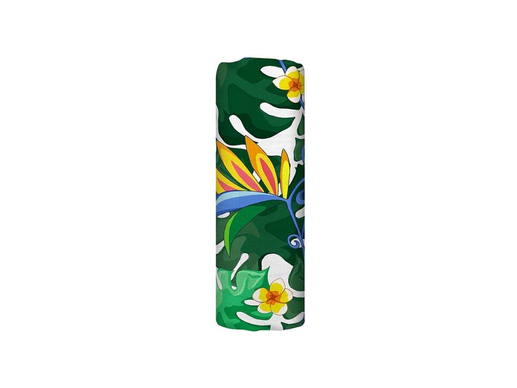 Bambusová mušelínová plena - Lush Garden (120x120 cm)