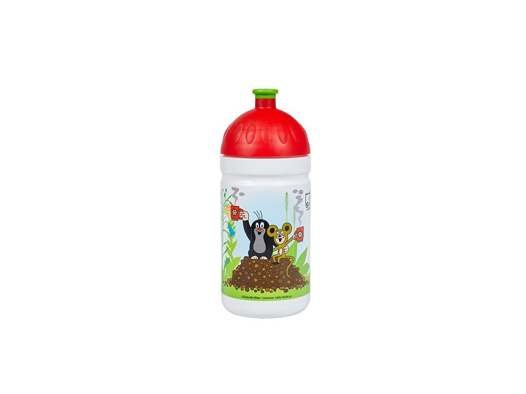 zdrava lahev krtek a jahody 0 5l cervene (1)