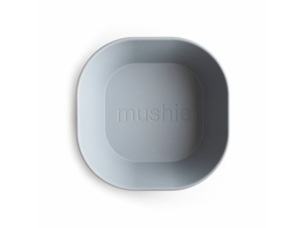 Mushie hranata miska 2ks cloud