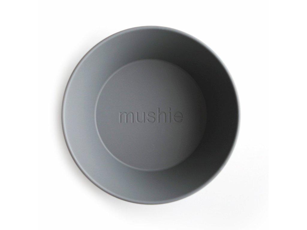 Mushie okruhla miska 2ks smoke