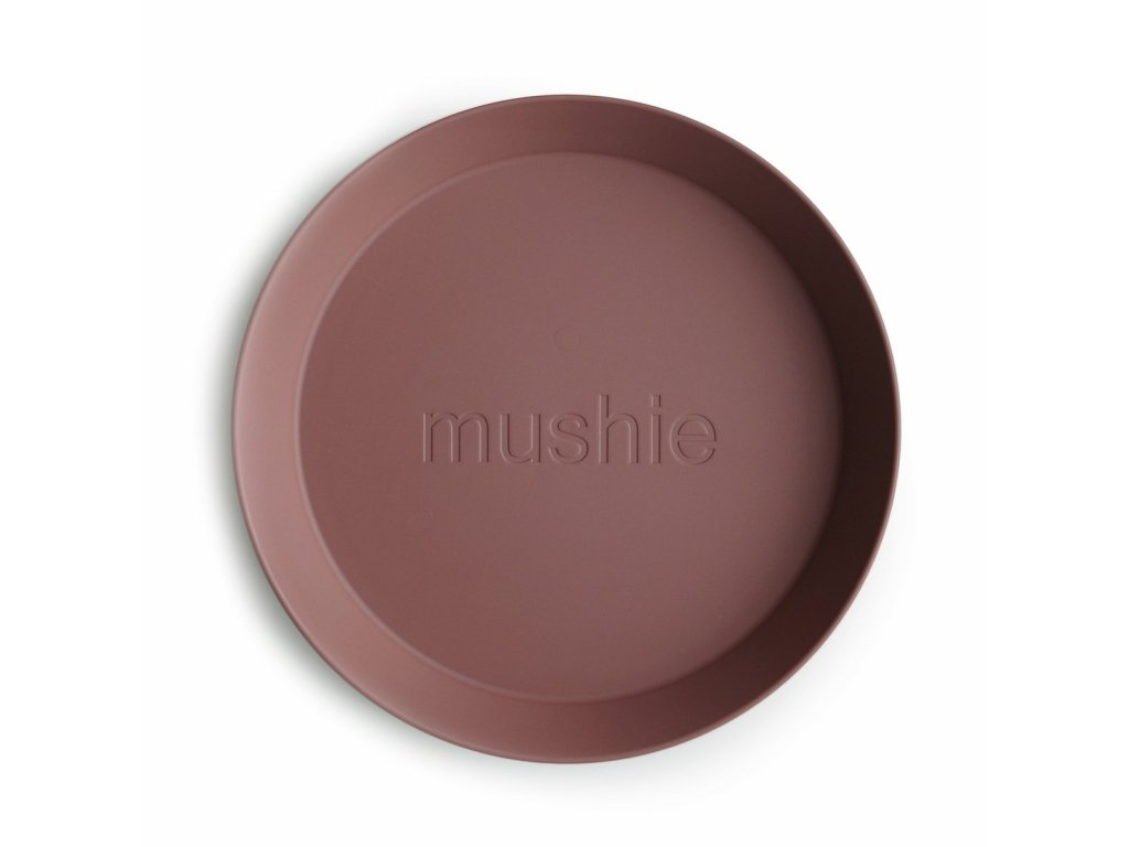Mushie okruhly tanier 2 ks woodchuck