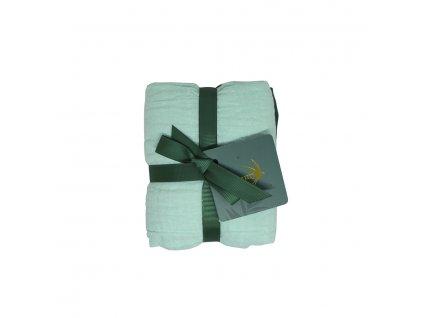 Set 2 mušelínových plen - Mangrove Green (70x70 cm)