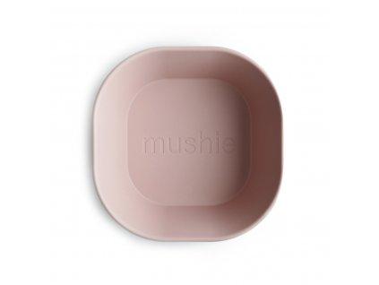 Mushie hranata miska 2ks blush