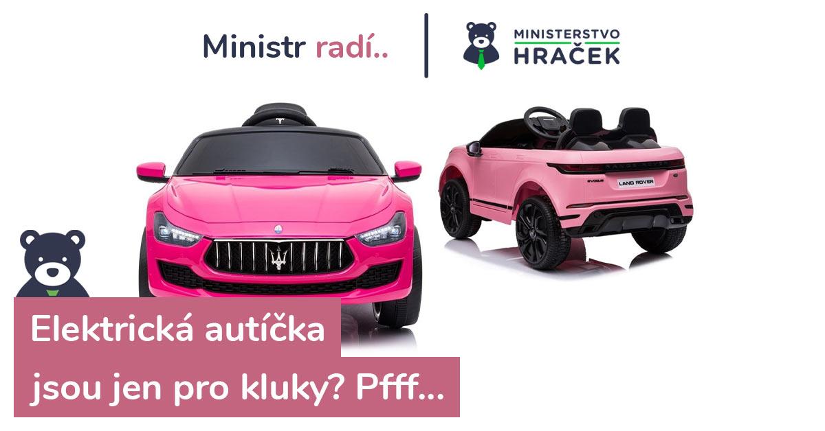 Elektrická autíčka jsou i hračky pro holky