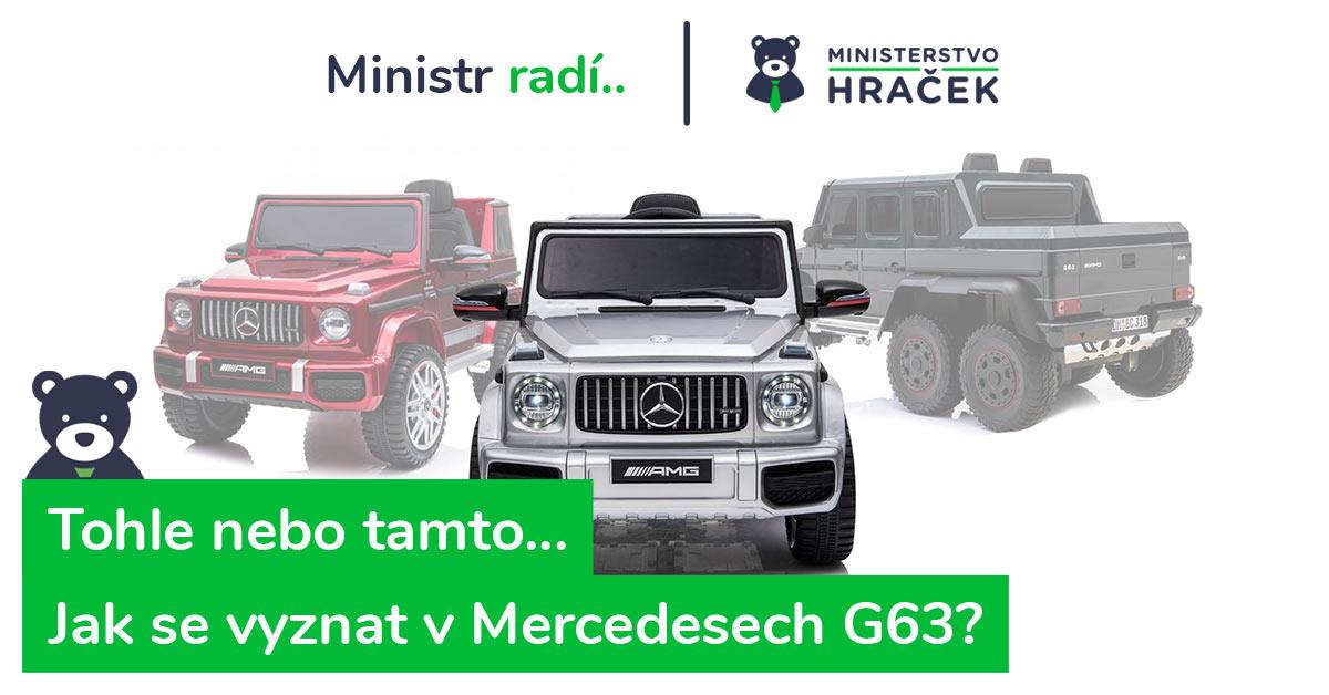 Srovnání a recenze elektrických autíček Mercedes Benz G63. Jaké vybrat?