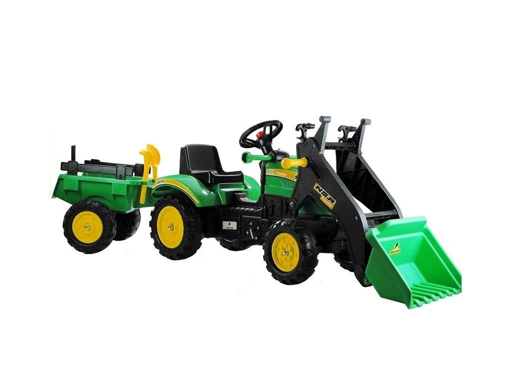 pol pl Traktor Herman z Przyczepa i Lyzka Zielony 165 cm 3828 1