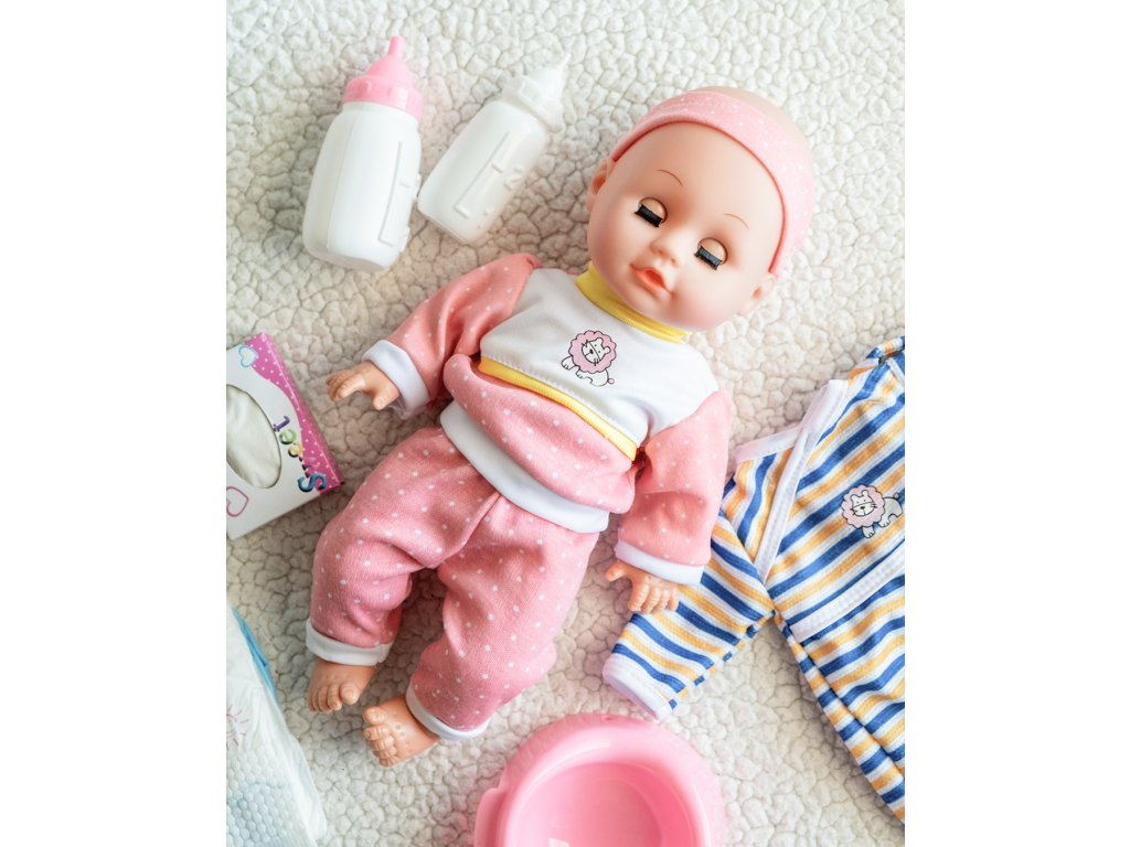 Panenka Lala Baby s doplňky růžová