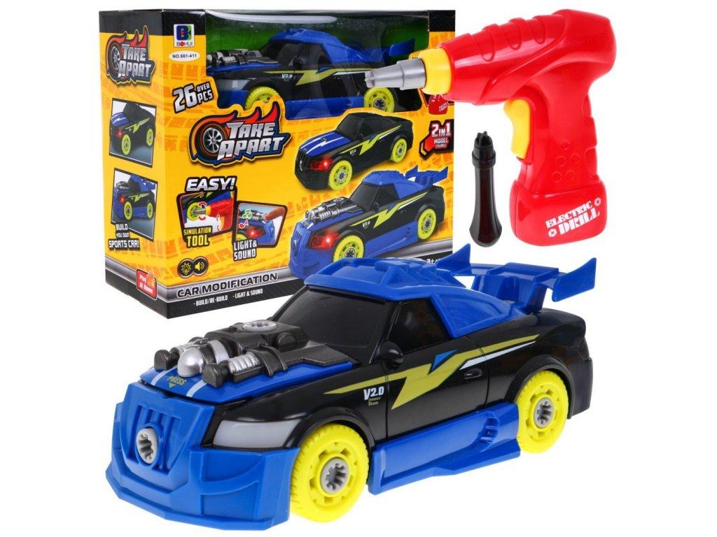 Sportovní auto na sestavení
