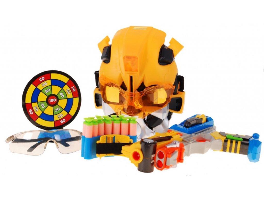 Transformers -  robot x pistole a maska robota + terč