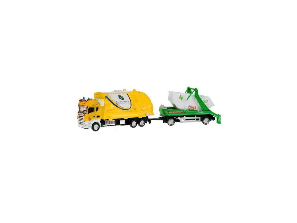 popelařský vůz pro děti s kontejnerem