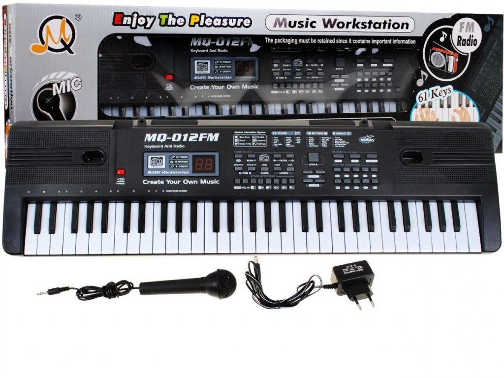 Keyboard s příslušenstvím mikrofon + rádio