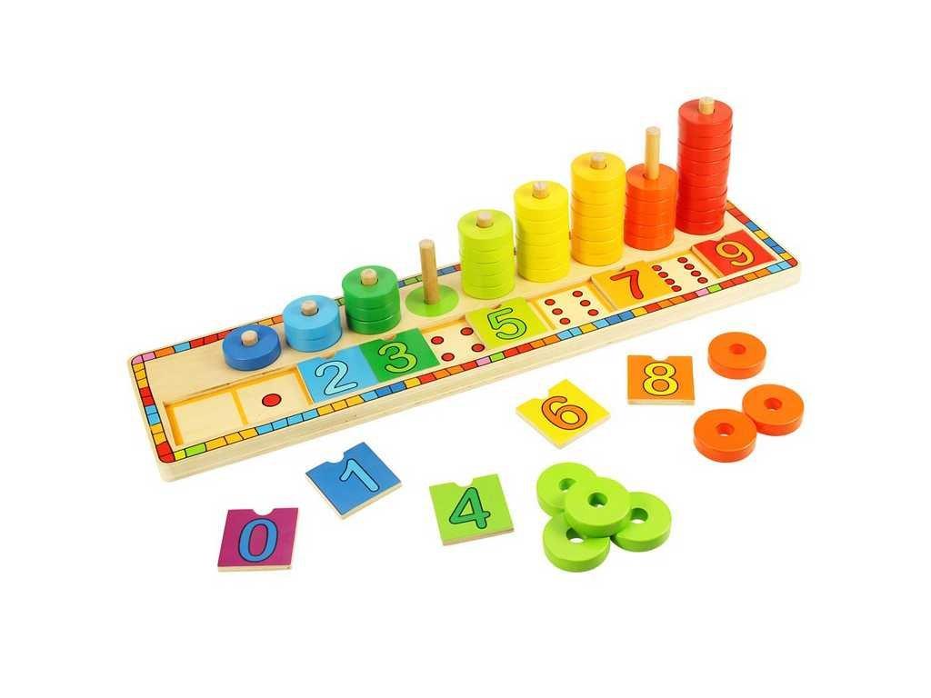 157361 bigjigs toys deska nasazovani s cisly