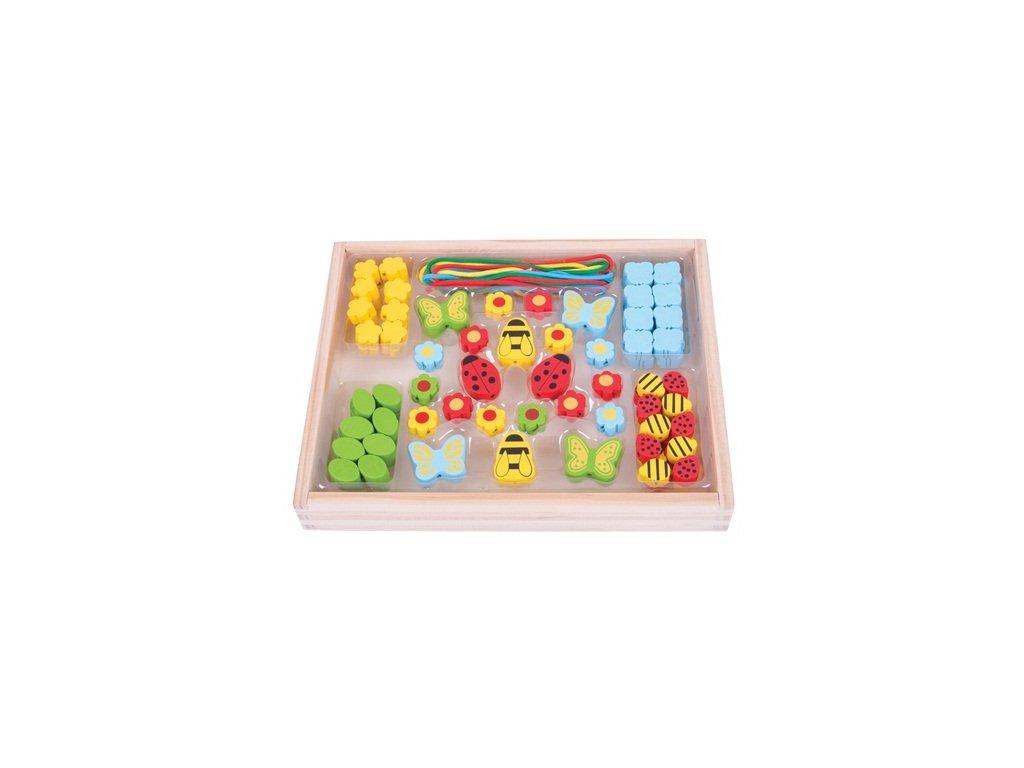 157472 bigjigs toys drevene hracky navlekaci koralky louka