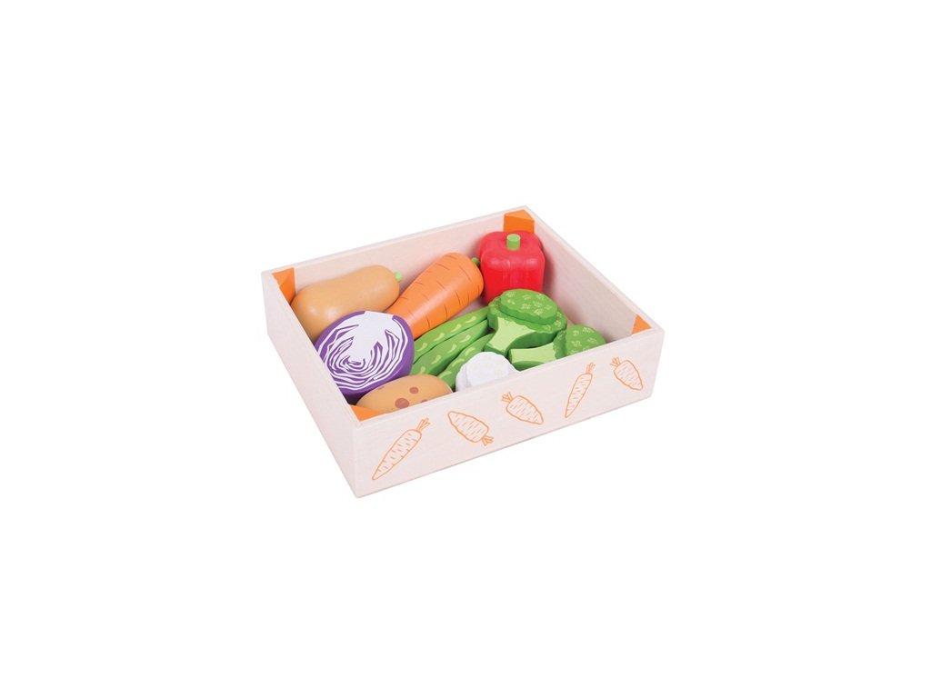 157466 bigjigs toys krabicka se zeleninou