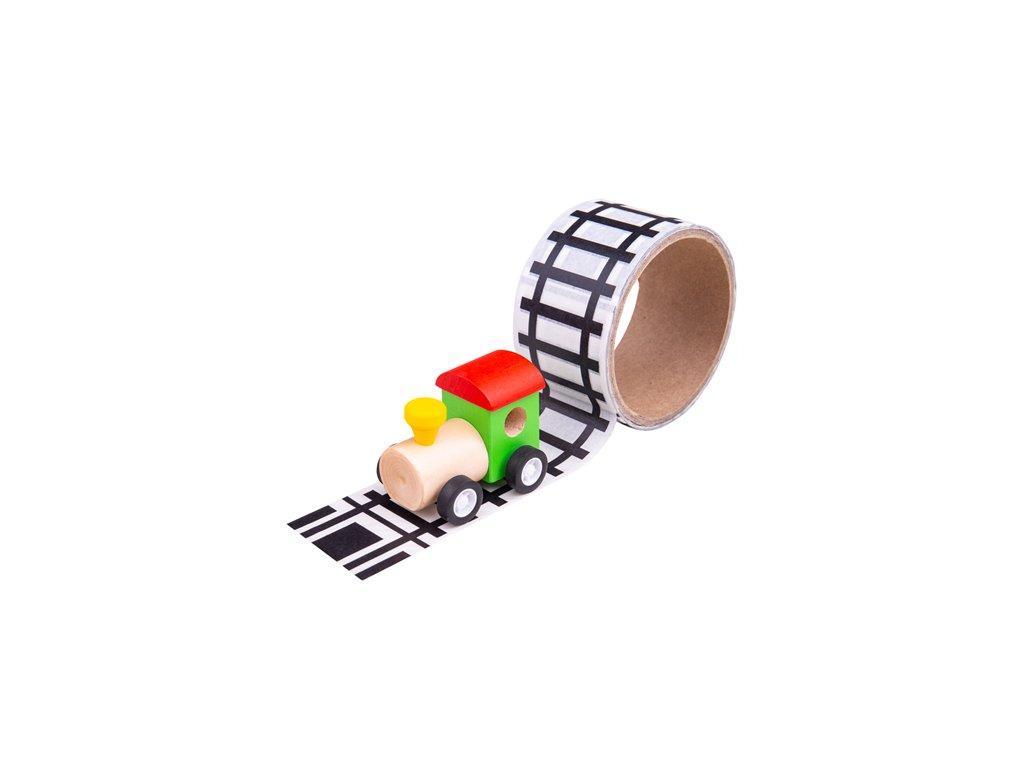 157322 bigjigs toys lepici paska koleje s masinkou
