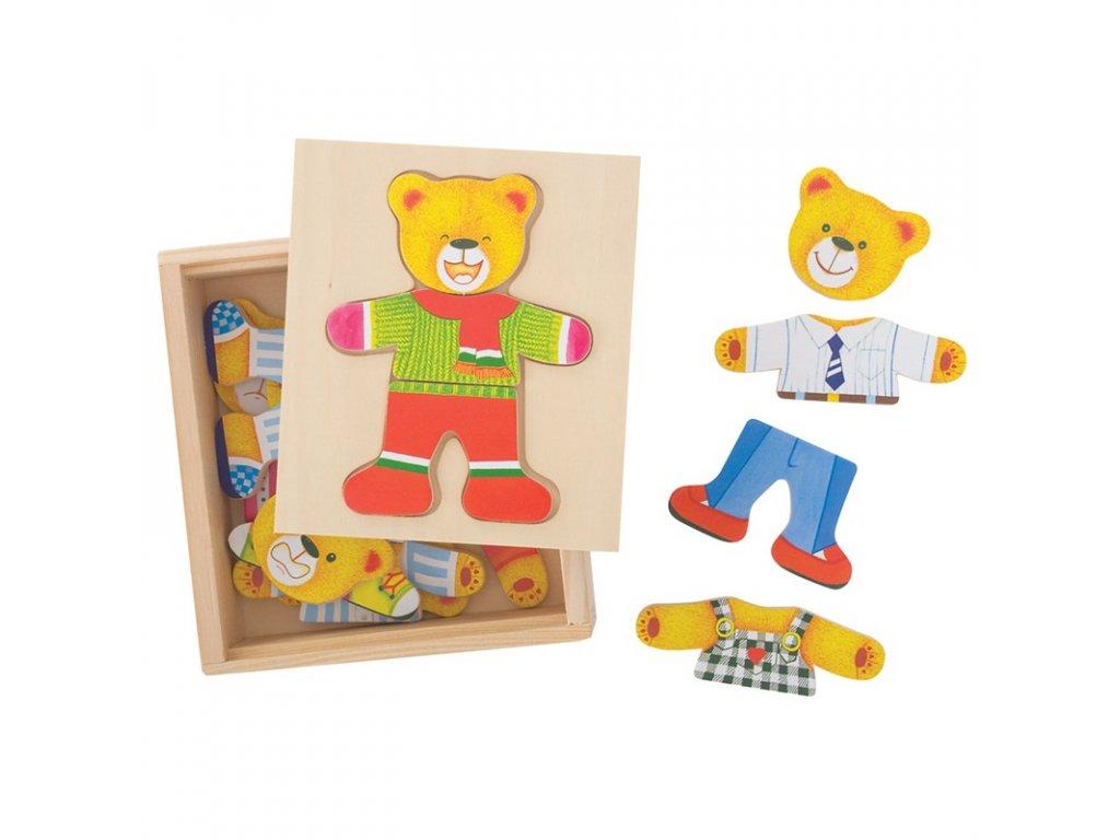 157433 bigjigs toys oblekaci puzzle pan medved