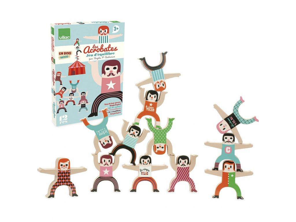 157382 11 vilac drevene postavicky akrobati