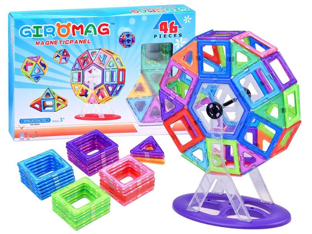 pol pl Klocki magnetyczne kolorowe PANELE 46ele ZA2507 13607 1
