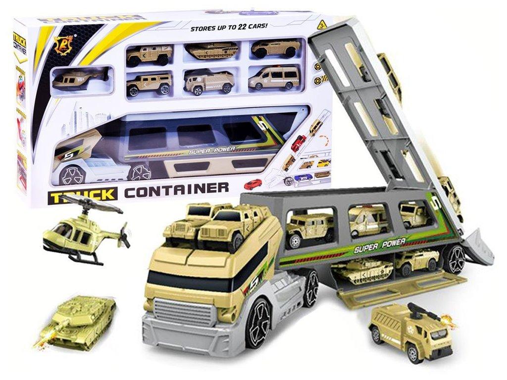 Auto, odtahové vozidlo, vojenské vozidlo - 7 vozidel