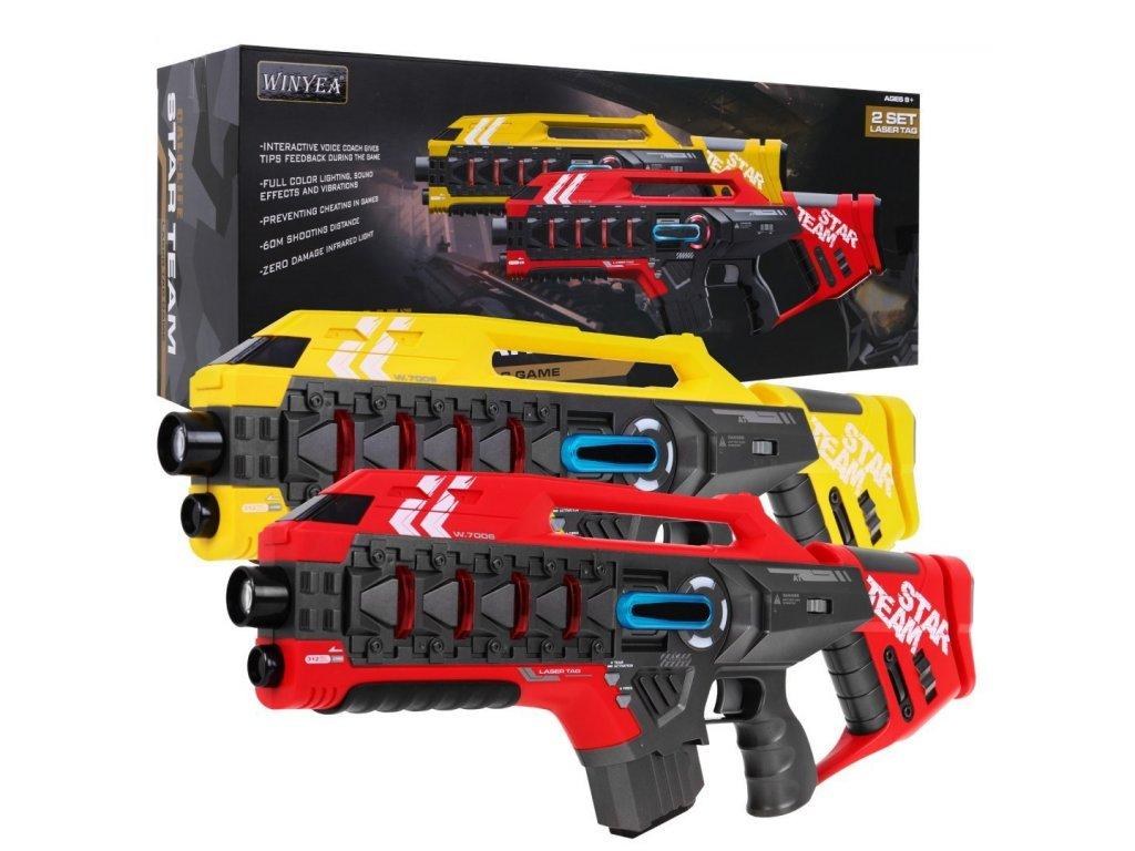 Laserové pistole červeno - žluté