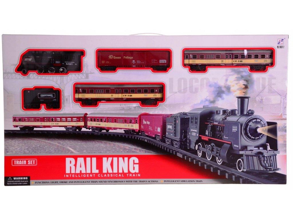 Velká nákladní vlaková sada s kouřovými efekty