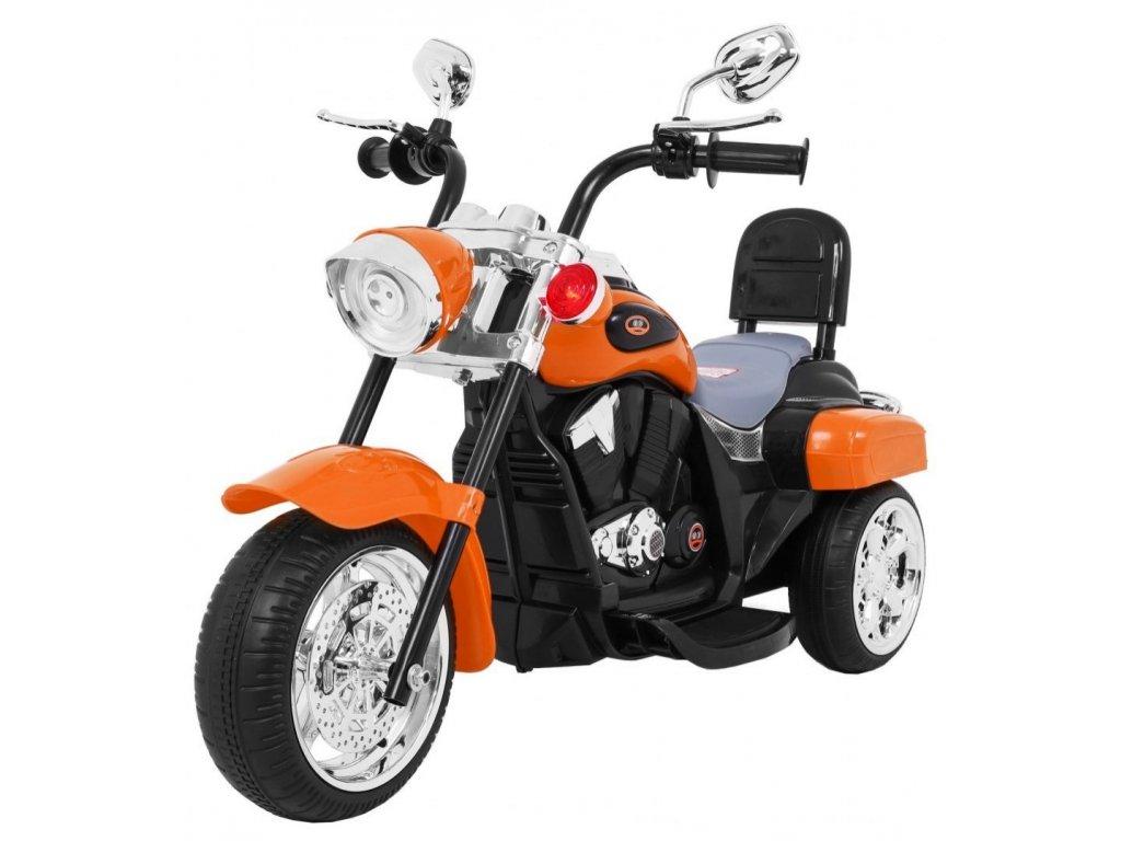 Motorek Chopper NightBike Pomaranczowy [34746] 1200