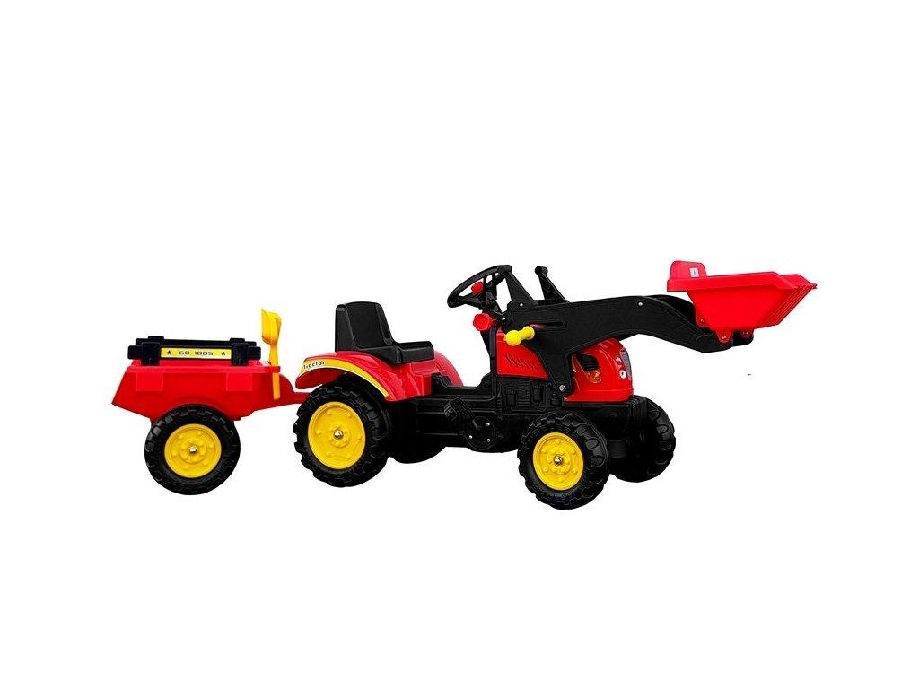 pol pl Traktor Herman z Przyczepa i Lyzka czerwony165 cm 5227 2