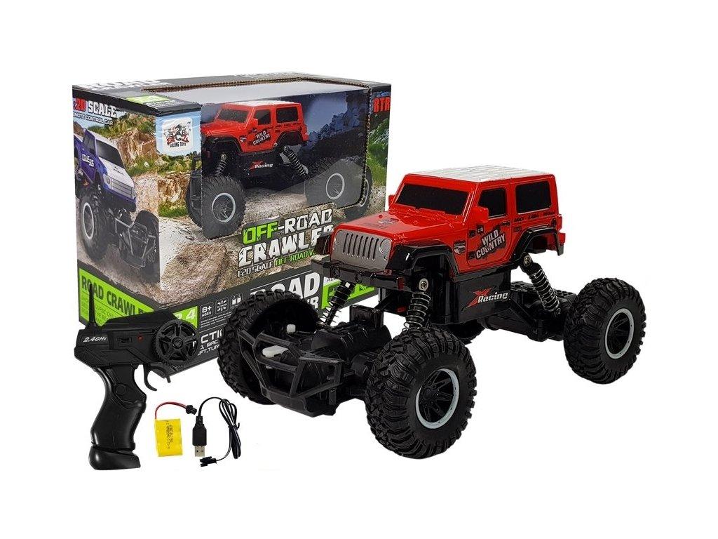 Auto na dálkové ovládání Monster Truck 120 červená (1)