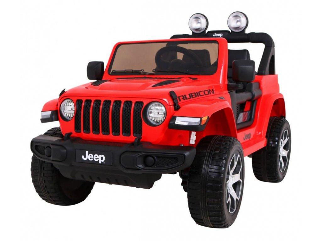 Elektrické autíčko Jeep Wrangler Rubicon 4x4 červené