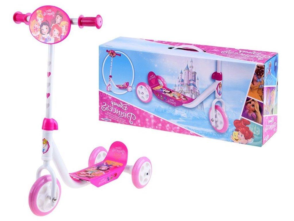 Dětská koloběžka tříkolová Disney Princezny