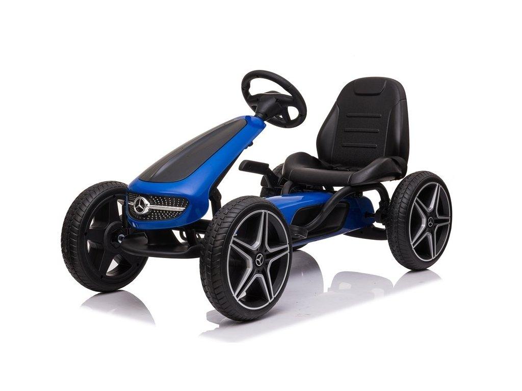 Dětská šlapací motokára Mercedes XMX610 modrá2