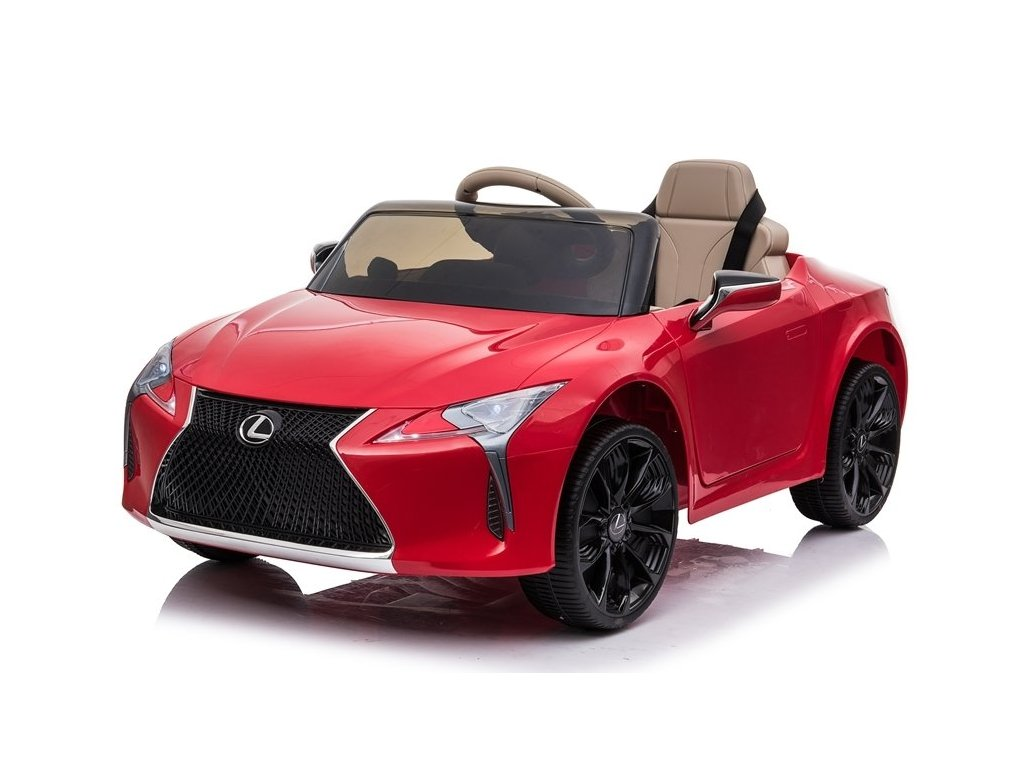 dětské elektrické autíčko lexus lakované červené (3)