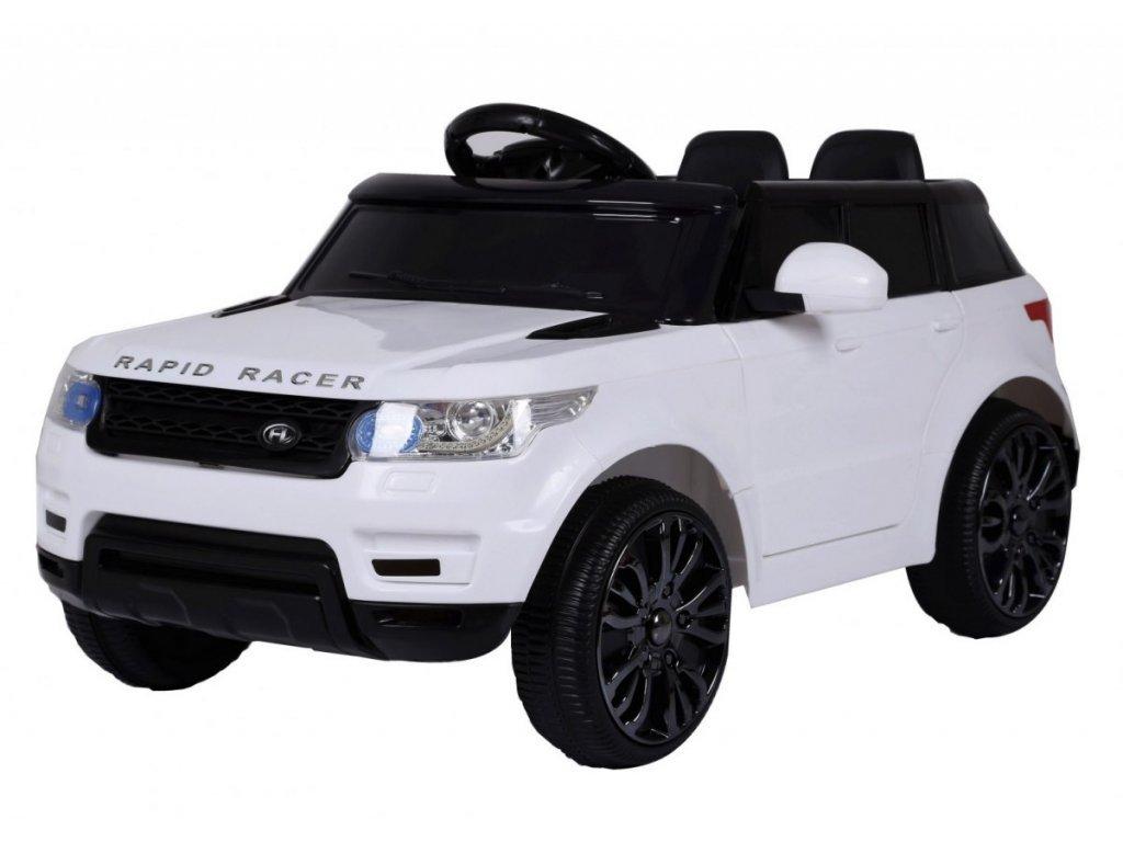 mamido Dětské elektrické autíčko Land Rapid bílé