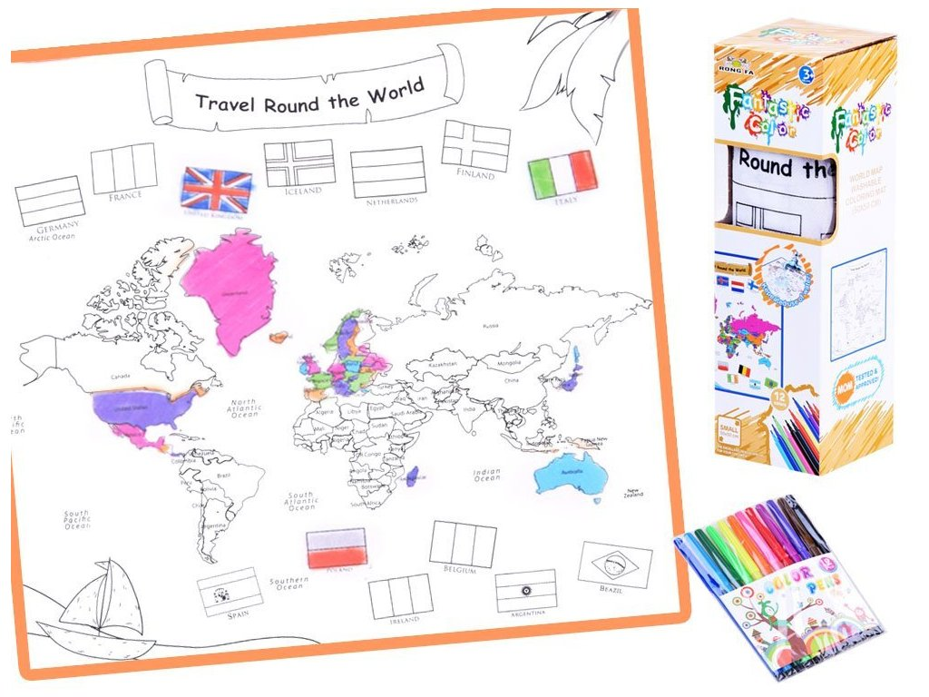omalovánka mapa světa (1)