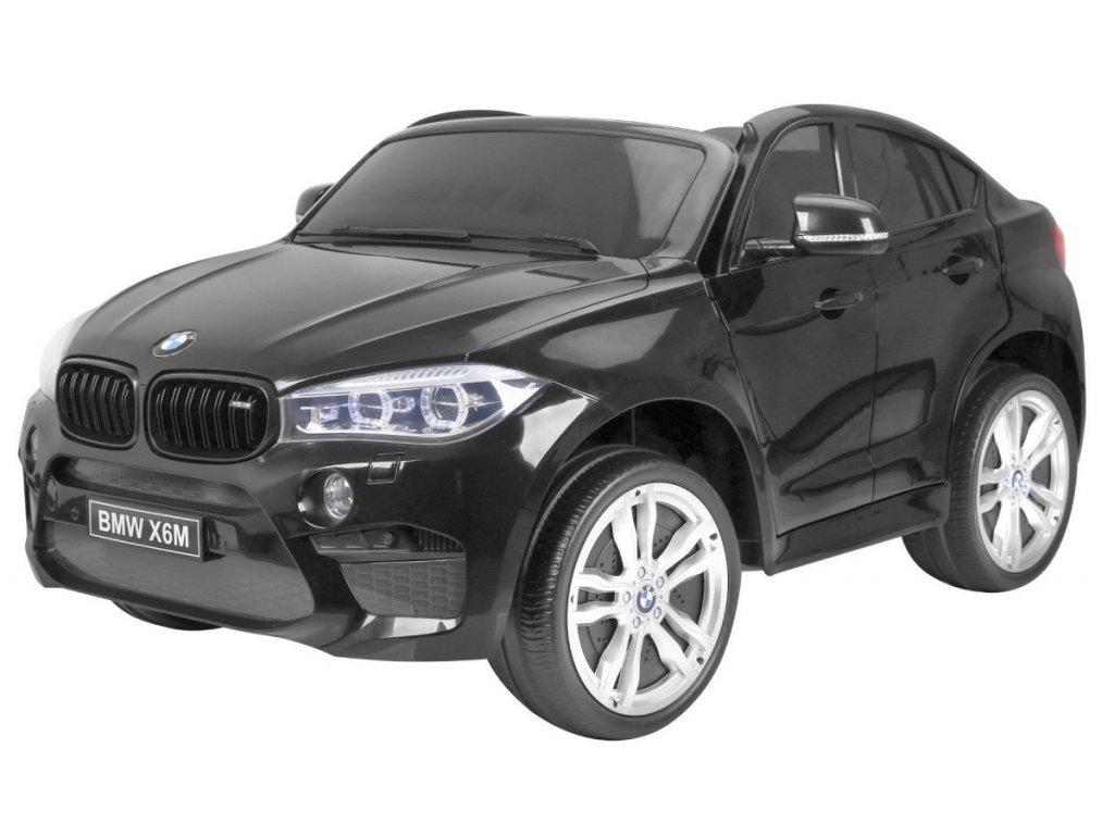 Elektrické autíčko BMW X6 M dvoumístné  XXL černé