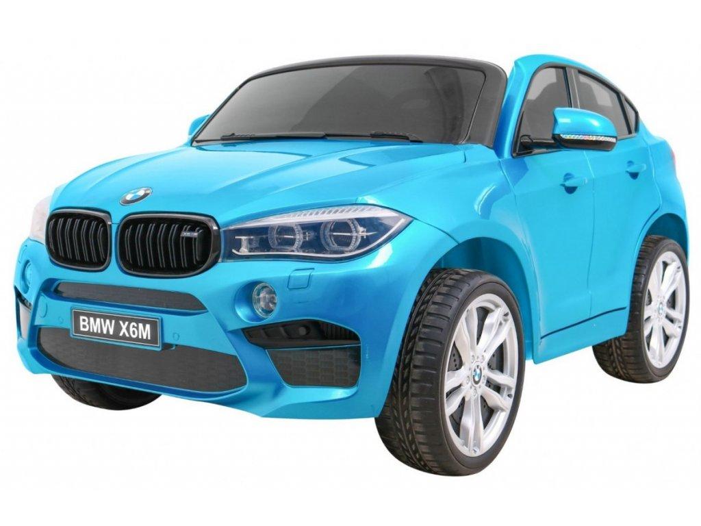 Elektrické autíčko, vozítko BMW X6M lakované modré
