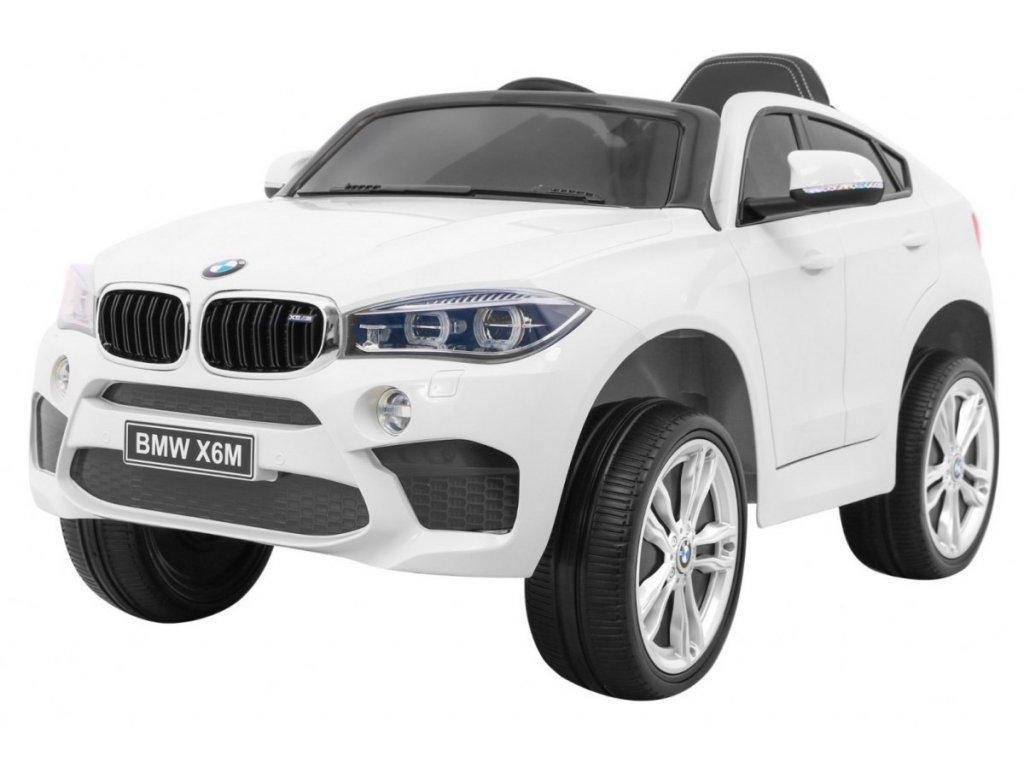 Elektrické autíčko BMW X6M bílé