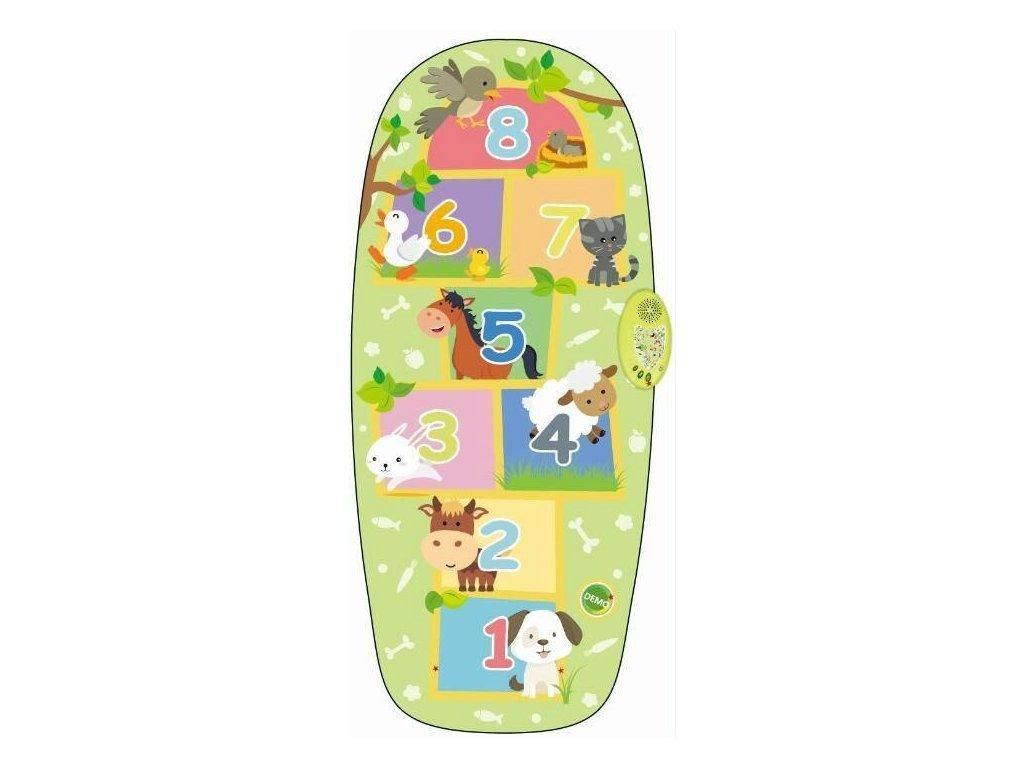 Dotyková podložka pro děti - skákací hra zelená