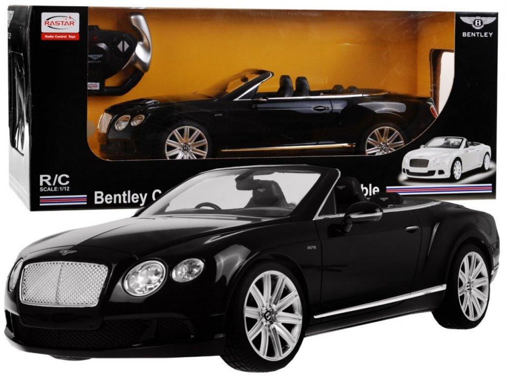Bentley Continental GT Speed Cabrio na dálkové ovládání-Černé