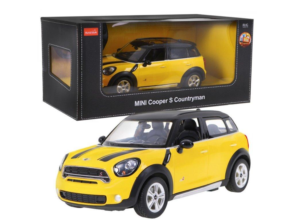 Mini Cooper S Countryman na dálkové ovládání žlutý