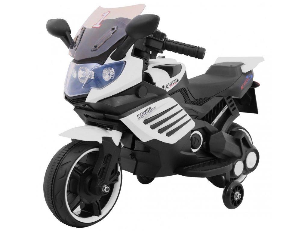 Pojazd Motorek SuperBike Bialy [30333] 1200