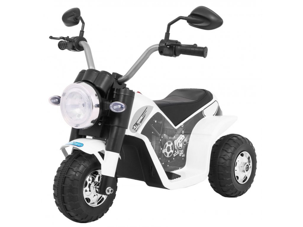 Pojazd Motorek MiniBike Bialy [35054] 1200