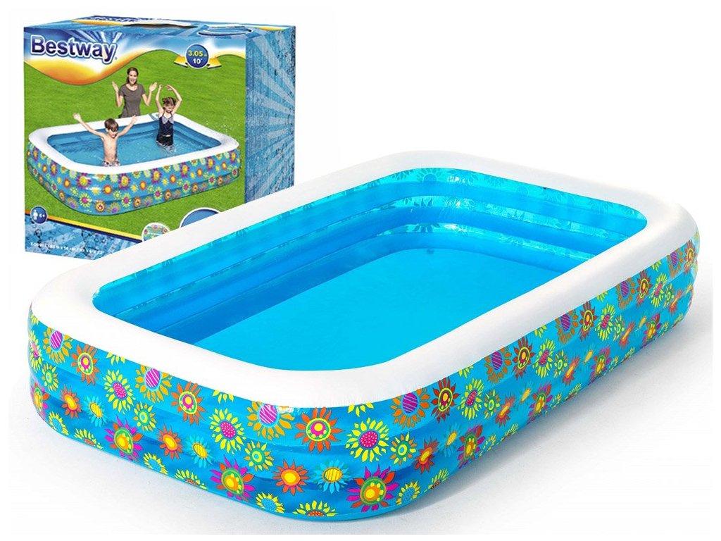 Dětský nafukovací bazének s rybičkami 305 x 183 x 56 cm