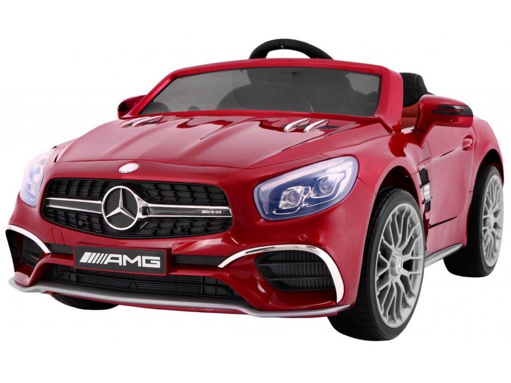 Elektrické autíčko Mercedes Benz AMG SL65, lakovaná červená