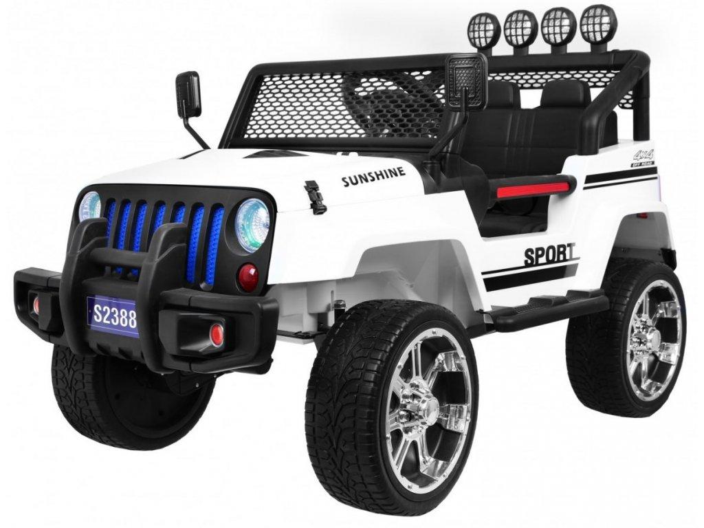 Elektrické autíčko jeep Raptor 4x4 bílé