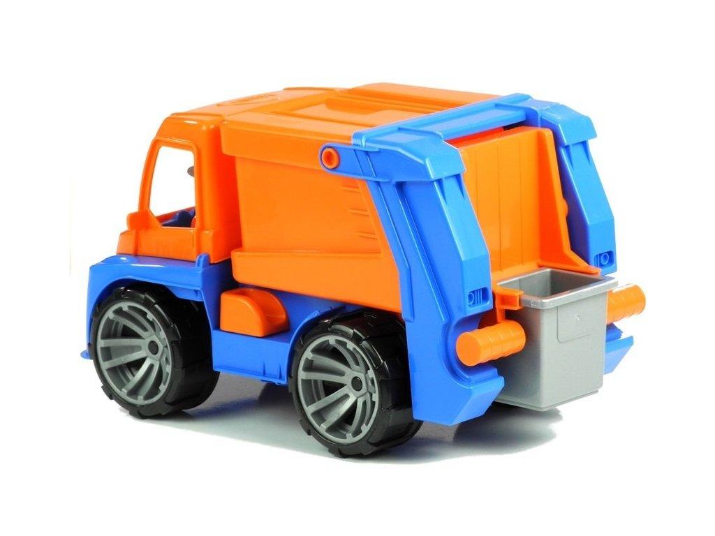 Popelářské auto s kontejnerem